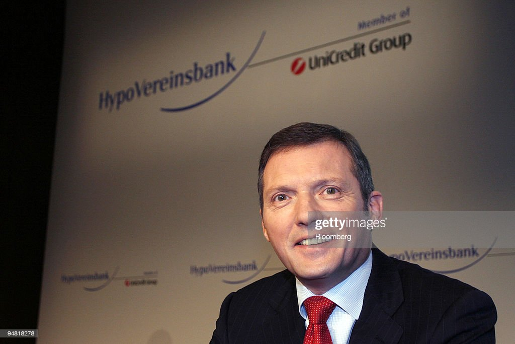 Rolf Friedhofen, HypoVereinsbank chief financial officer, po : News Photo