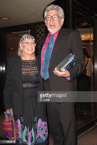 Rolf Harris and wife during Music Industry Trust Awards 2005 at Grosvenor House in London Great Britain