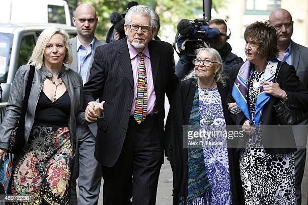 Rolf Harris arrives at Southwark Crown Court accompanied by daughter Bindi Harris and wife Alwen Hughes to face charges of indecent assault on May 12...