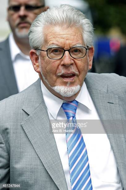Rolf Harris arrives at Southwark Crown Court on June 26 2014 in London England