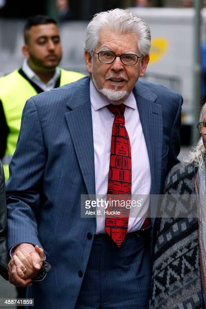 Rolf Harris arrives at Southwark Crown Court on May 8 2014 in London England