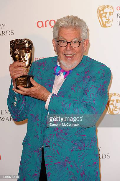 Rolf Harris poses backstage at the Arqiva British Academy Television Awards at the Royal Festival Hall on May 27 2012 in London England