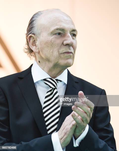 Rolf Konigs is seen during the Borussia Mönchengladbach Annual Meeting at the Borussia Park on April 3, 2017 in Moenchengladbach, Germany.