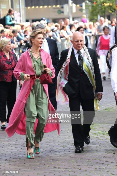 Rolf Sachs and his girlfriend Mafalda von Hessen during the wedding of Prince Ernst August of Hanover jr Duke of BrunswickLueneburg and his fiancee...