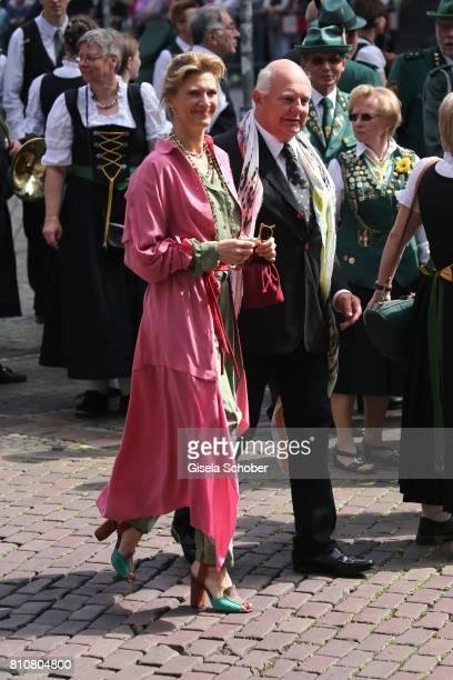Rolf Sachs and his girlfriend Mafalda von Hessen during the wedding of Prince Ernst August of Hanover jr Duke of BrunswickLueneburg and his fiancee...