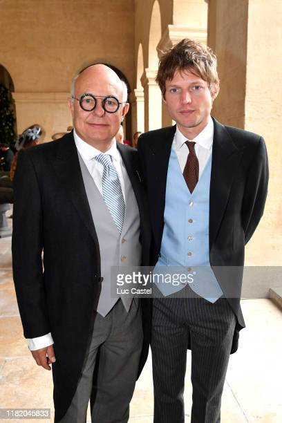 Rolf Sachs and Nikolai Von Bismarck attend the Wedding of Prince Jean-Christophe Napoleon and Olympia Von Arco-Zinneberg at Les Invalides on October...