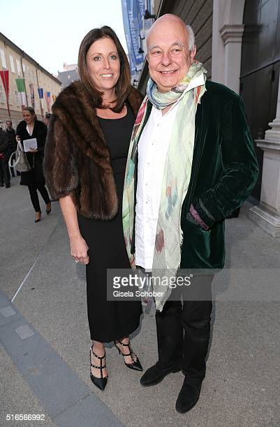 Rolf Sachs and Pia Hahn during the opening of the easter festival 2016 'Otello' premiere on March 19 2016 in Salzburg Austria