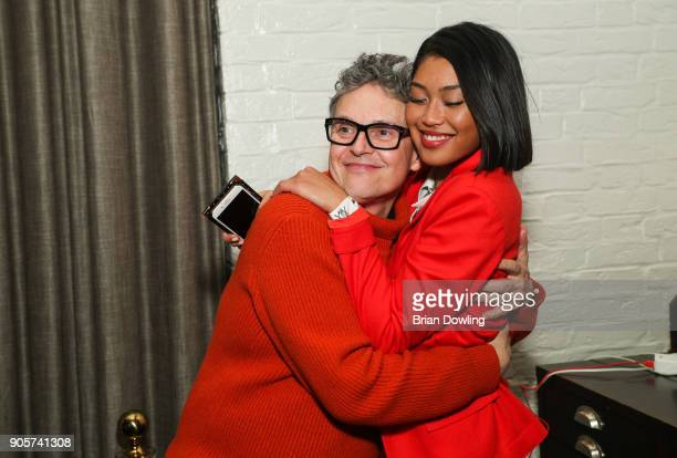 Rolf Scheider and Anuthida Ploypetch attend the Riani After Show Party during the MBFW Berlin January 2018 at Grace Restaurant on January 16 2018 in...
