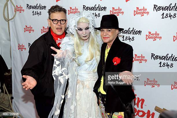 Rolf Scheider and Barbara Engel attend the 'Revolution 1848' Show premiere at Berlin Dungeon on March 18 2015 in Berlin Germany
