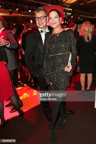 Rolf Scheider and Barbara Engel formerly Herzsprung arrive for the Tribute to Bambi 2015 at Station on October 15 2015 in Berlin Germany