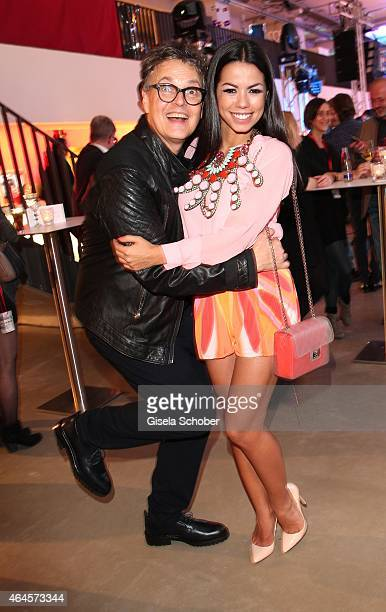 Rolf Scheider and Fernanda Brandao during the Pre Opening Event Exhibition Insights by Mayk Azzato presented by KARE Kraftwerk on February 26 2015 in...