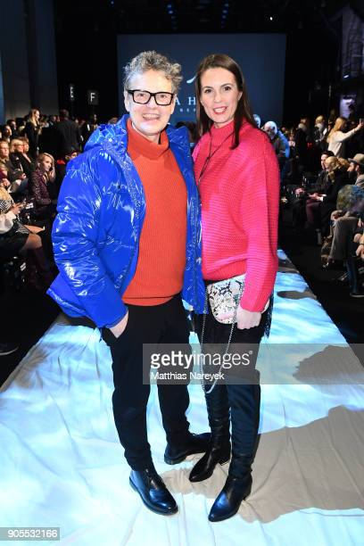 Rolf Scheider and Katrin Wrobel attends the Ewa Herzog show during the MBFW Berlin January 2018 at ewerk on January 16 2018 in Berlin Germany