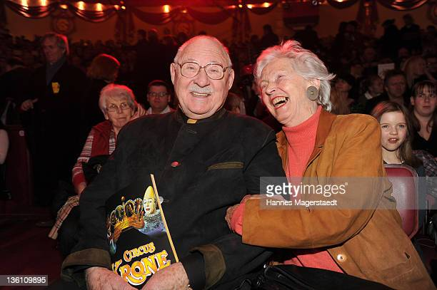 Rolf Schimpf and his wife Ilse Zielstorff attend the Circus Krone Christmas Show at the Circus Krone on December 25 2011 in Munich Germany