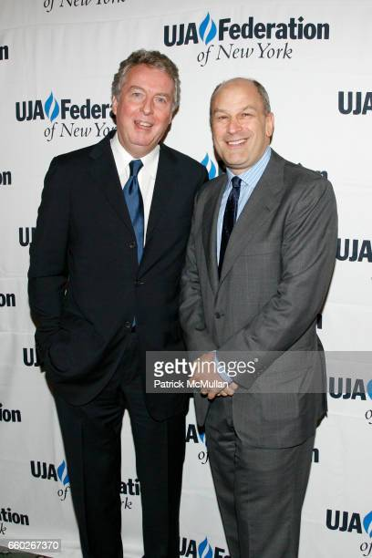 Rolf Schmidt-Holtz and Barry Weiss attend UJA-FEDERATION OF NEW YORK honor BARRY WEISS with The Music Visionary of the Year Award at The Pierre on...