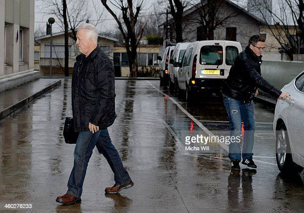 Rolf Schumacher and Ralf Schumacher , father and brother of Michael Schumacher and arrive at Grenoble University Hospital Centre where the former...