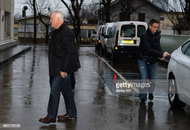 Rolf Schumacher, father of Michael Schumacher and his brother Ralf arrive at the Grenoble University Hospital Centre where the former German Formula...