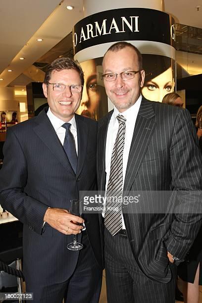 """Rolf Sigmund Und Patrice Wagner Beim Giorgio Armani Cocktail Empfang Zur Präsentation Von """"Crema Nera"""" Am 290807 In Berlin Im Kadewe ."""