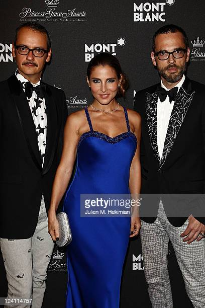 Rolf Snoeren Elsa Pataky and Viktor Horsting attend the Montblanc 'Collection Princesse Grace de Monaco' World Premiere presentation under the High...