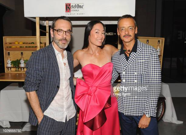 Rolf Snoeren, Founder of Visionaire Cecilia Dean and Viktor Horsting attends the launch of an Interactive Installation with Ketel One Family-Made...