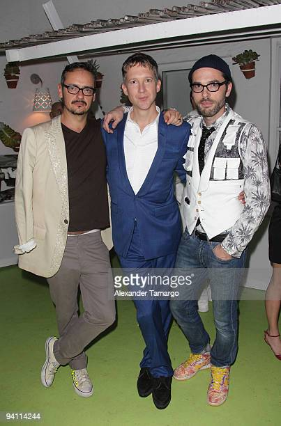 Rolf Snoeren Jefferson Hack and Victor Horsting attend the AnOther Magazine's Art Editions launch during Miami Art Basel at the Delano Hotel on...