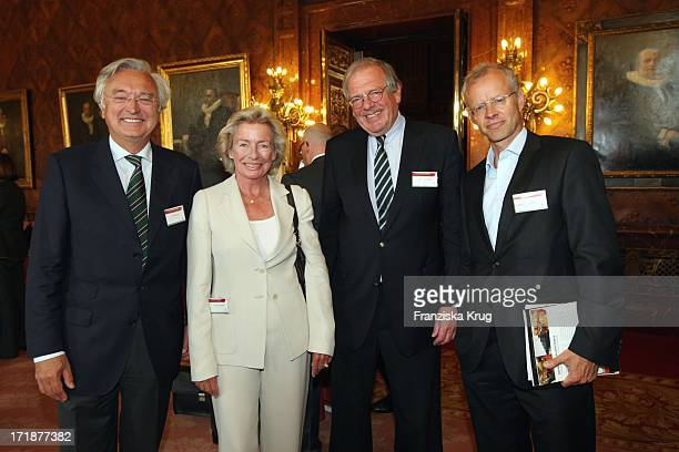 Rolf Wiedmann Angelika Jahr Carl Friedrich Seidl Andreas Wolters at the 'International Media Dialogue' in the Town Hall in Hamburg