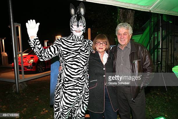 Rolf Zuckowski and his wife Monika Zuckowski during the 'Tabaluga - Es lebe die Freundschaft' record release at Das Schloss on October 28, 2015 in...