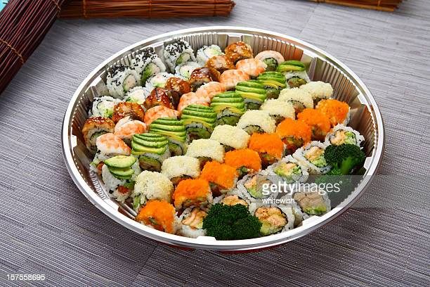 con servicio de catering - sashimi fotografías e imágenes de stock