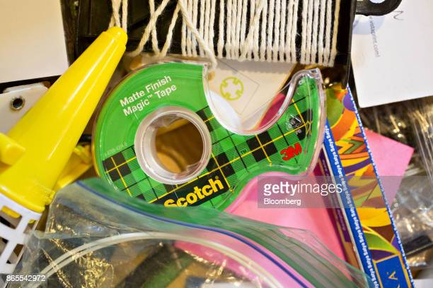A roll of 3M Co Scotch brand transparent tape is arranged for a photograph in Tiskilwa Illinois US on Monday Oct 23 2017 3M is scheduled to release...