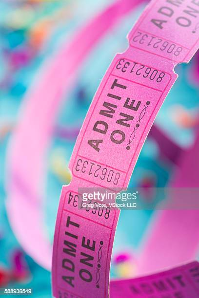 Roll of admit one tickets