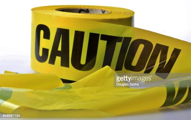 Roll of caution tape used to create a on site safety barrier