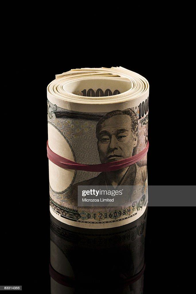 Roll of Chinese money YEN : Stock Photo