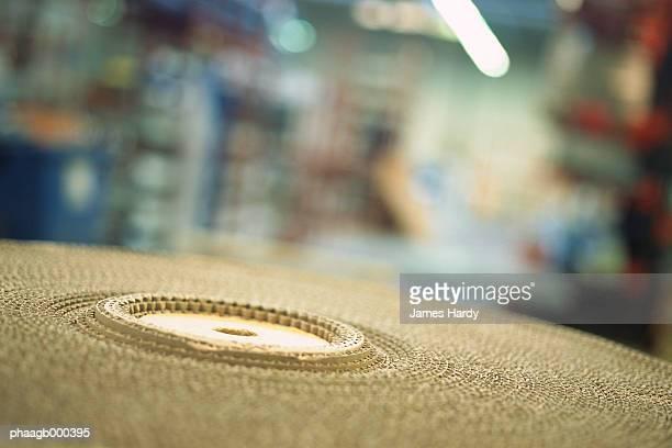 Roll of corrugated cardboard