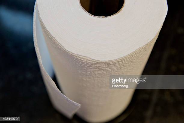 Roll of Kimberly-Clark Corp. Scott brand paper towels is arranged for a photograph in Tiskilwa, Illinois, U.S., on Friday, Oct. 16, 2015....