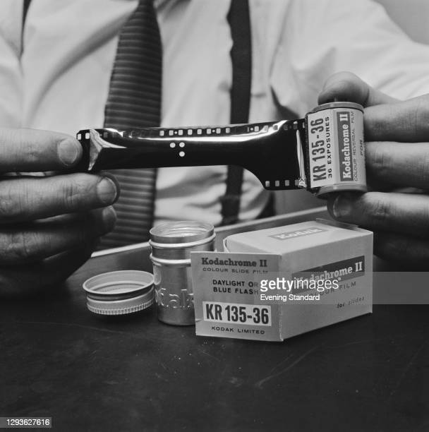 Roll of Kodachrome II colour slide film by Kodak, UK, 28th April 1966.