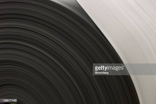 A roll of rubber carpet cushion is assembled at the Fabricushion manufacturing facility in Markham Ontario Canada on Monday Oct 24 2011 Fabricushion...