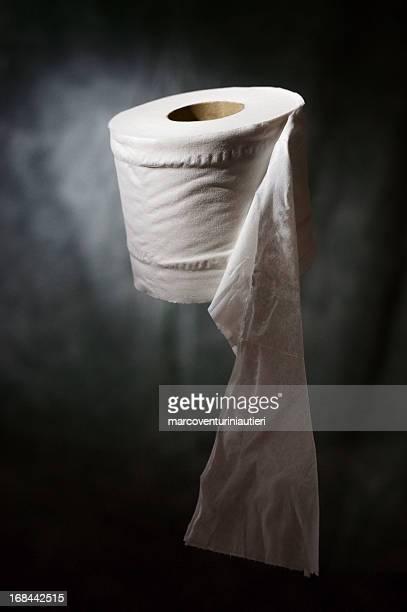 rotolo di carta igienica sublime momenti sospeso a mezz'aria - funny toilet paper foto e immagini stock