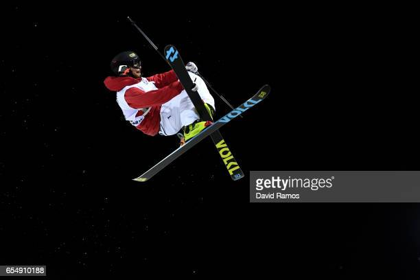 Rolland Kevin of France competes in the Final of the Men's Halfpipe on day eleven of FIS Freestyle Ski Snowboard World Championships 2017 on March 18...