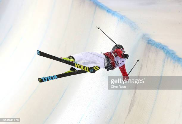 Rolland Kevin of France crashes during the Final of the Men's Halfpipe on day eleven of FIS Freestyle Ski Snowboard World Championships 2017 on March...