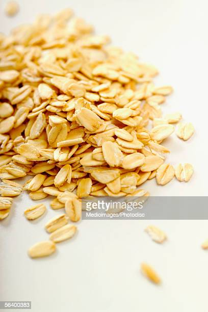 Rolled oats, close-up