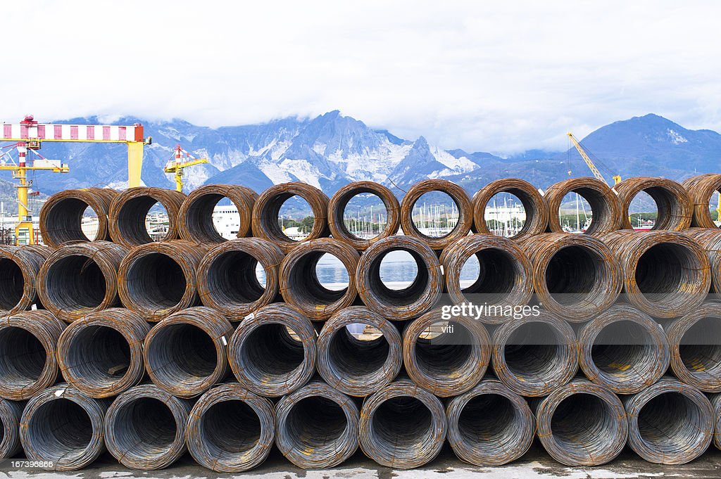 Rolled steel : Stock Photo