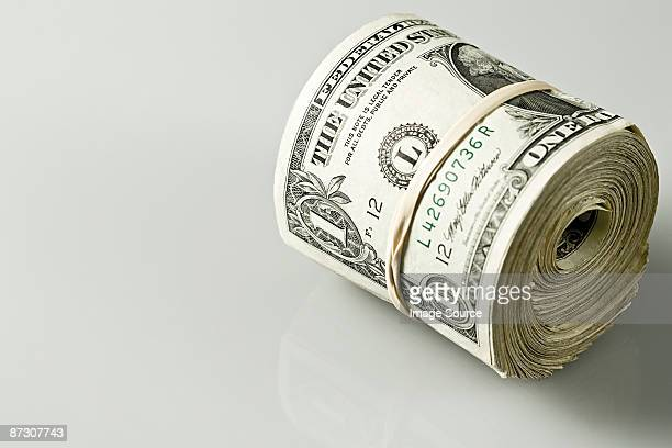 Rolled up banknotes