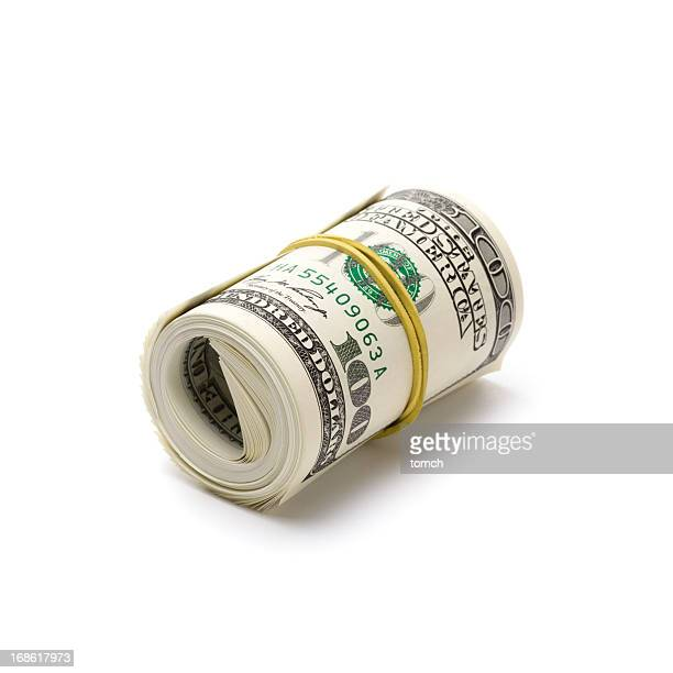 Rolled up dollars