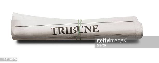 rolled up newspaper on white background - rolled up stock pictures, royalty-free photos & images