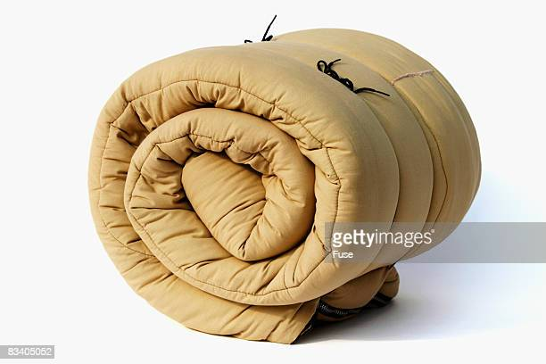 Rolled up Sleeping Bag