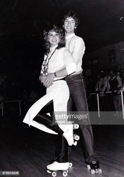 Roller Boogie costars Jim Bray and Linda Blair circa 1979 in New York