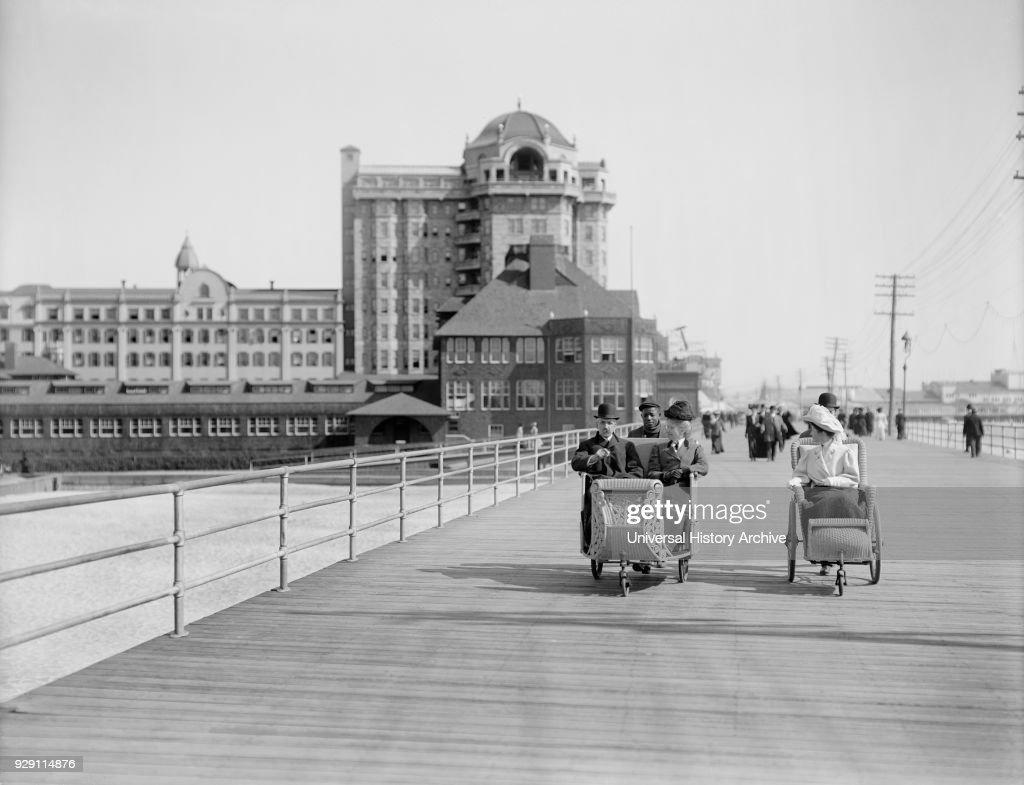 roller chairs on boardwalk atlantic city new jersey usa detroit