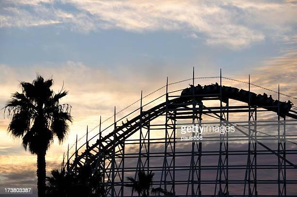 Roller Coaster at Dusk