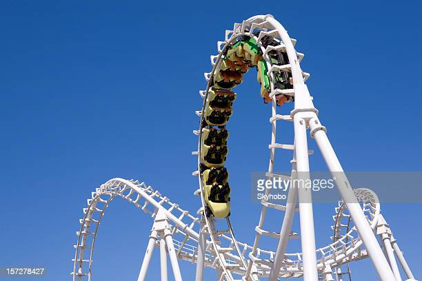 roller coaster - amusement park stock pictures, royalty-free photos & images