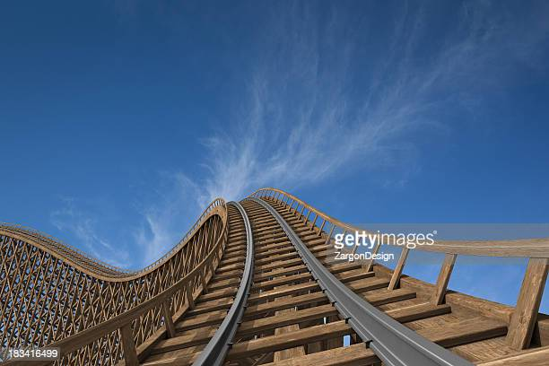 roller coaster - amusement park ride stock pictures, royalty-free photos & images