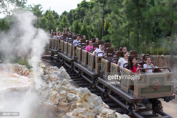 roller coaster - disney stock pictures, royalty-free photos & images